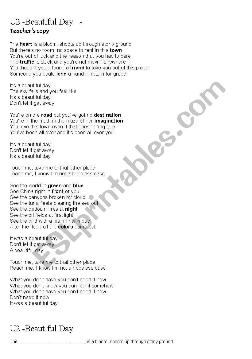 U2 – Beautiful Day Lyrics | Genius Lyrics