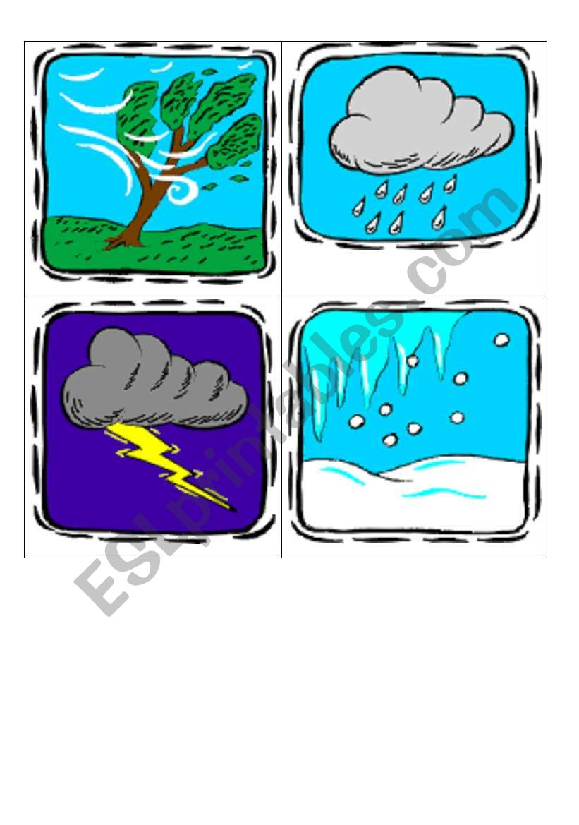 weather flashcards worksheet