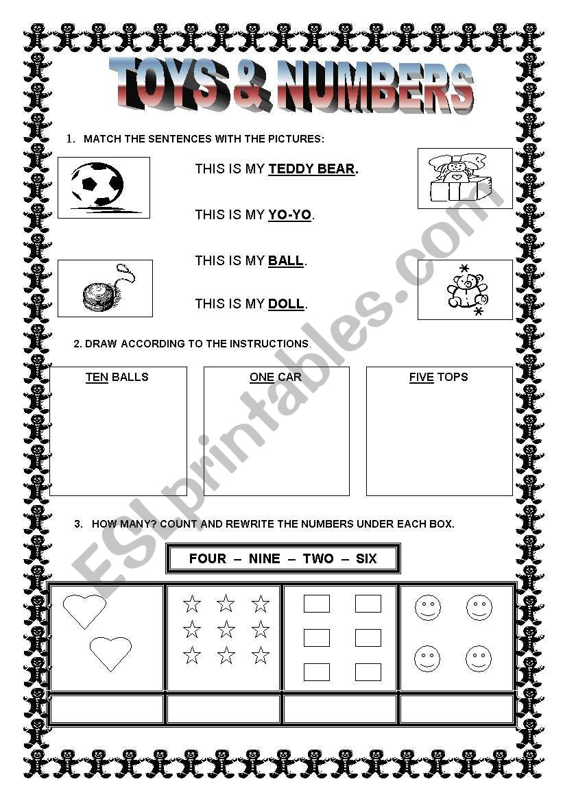 TOYS & NUMBERS worksheet
