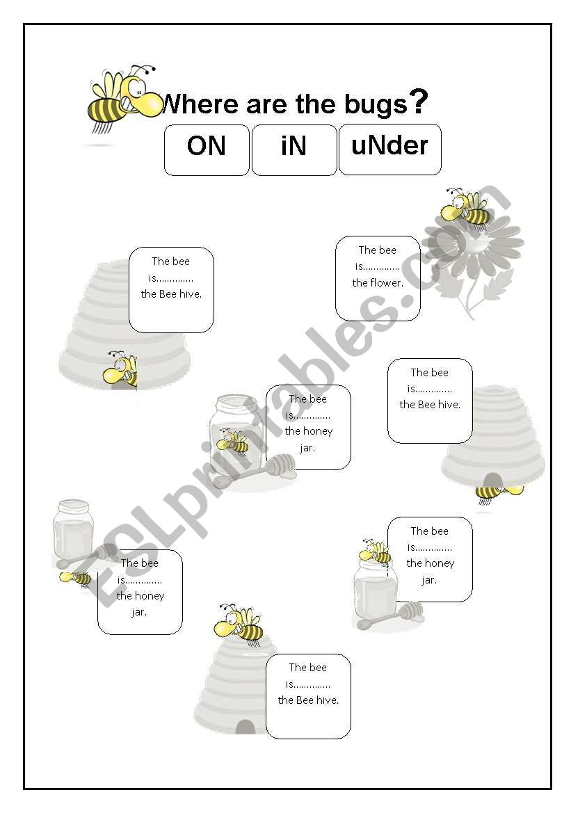 Prepositions In On Under Esl Worksheet By Celialop