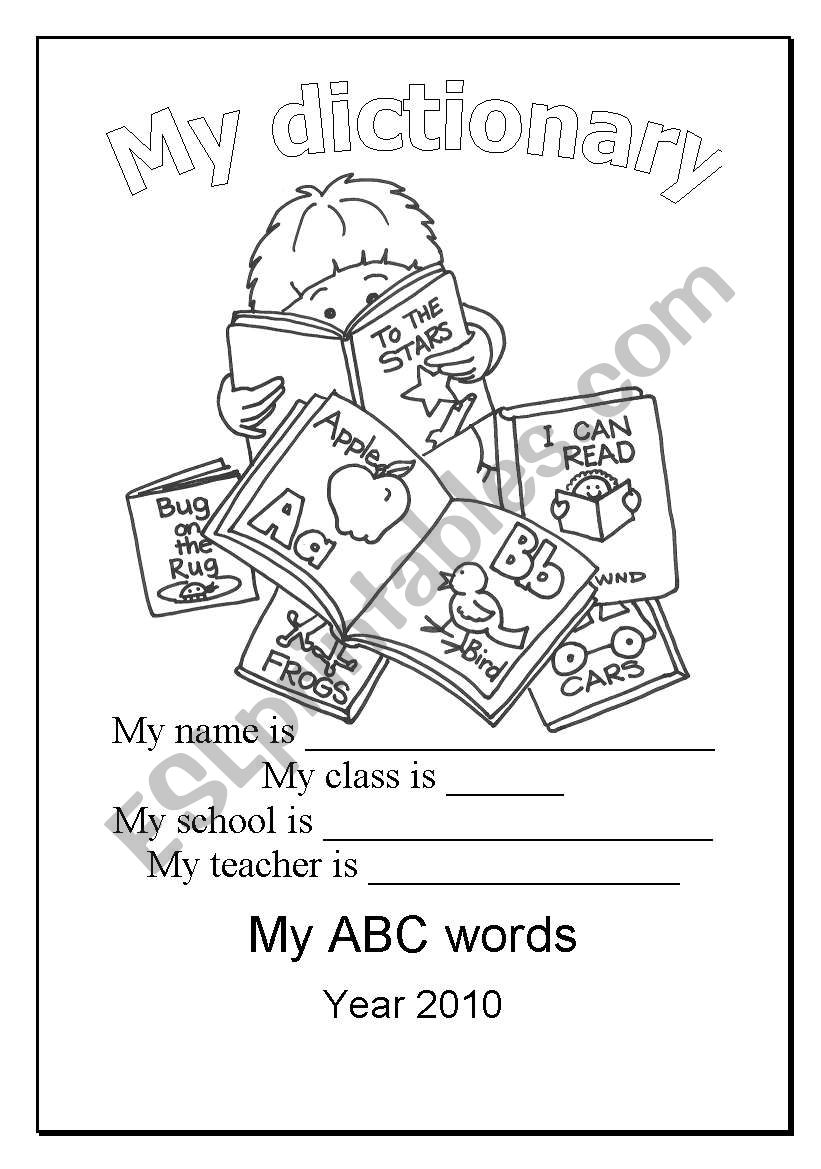 My dictionary worksheet