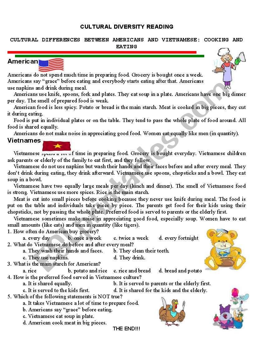 Worksheets Diversity Worksheets english worksheets cultural diversity worksheet