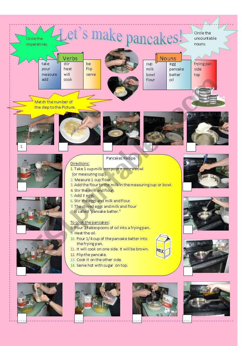 Let´s Make Pancakes worksheet