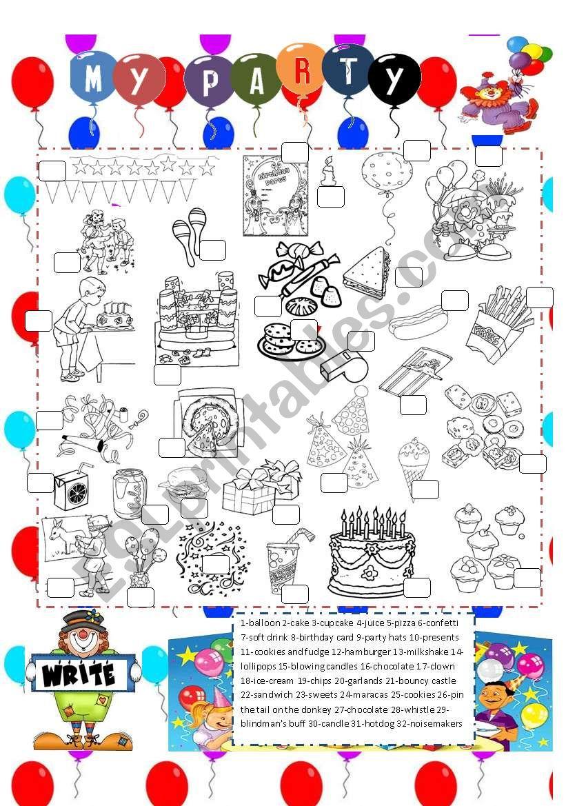 birthday vocabulary worksheet
