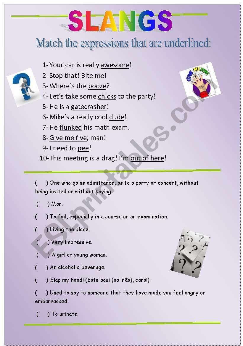 SLANG worksheet