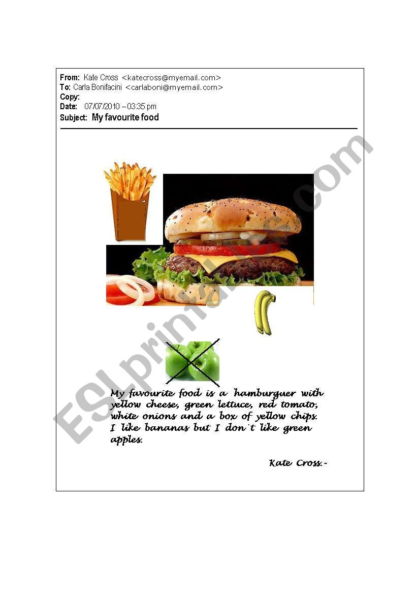 My Favourite Food worksheet