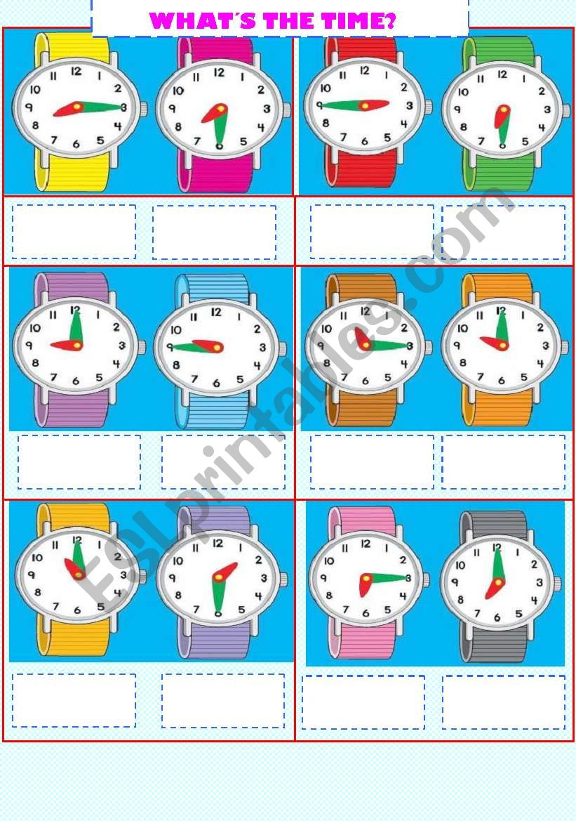 WHAT´S THE TIME? worksheet