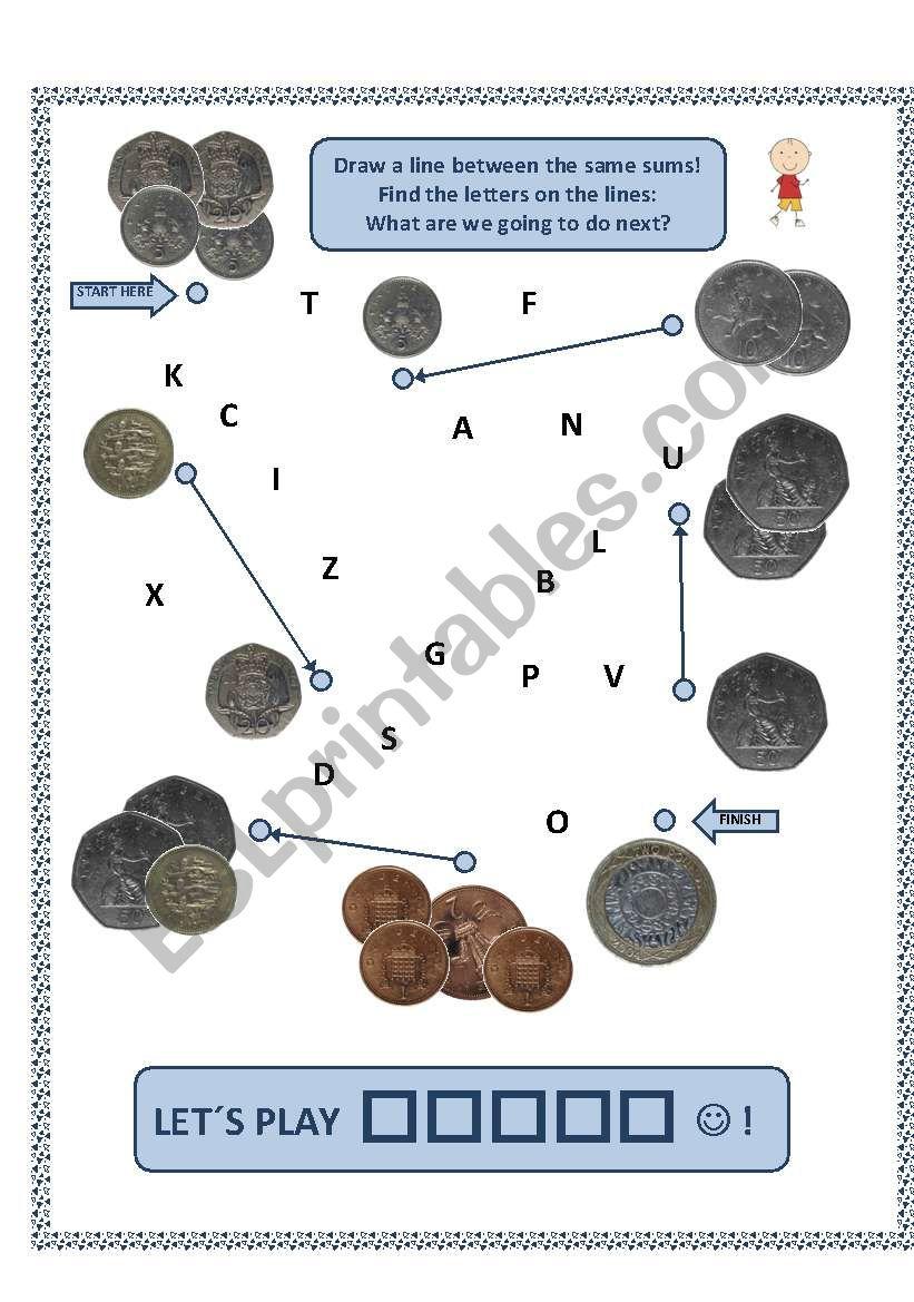 BRITISH MONEY - number 2 worksheet
