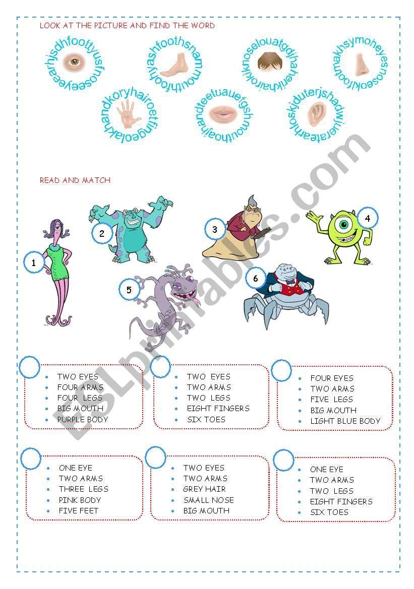 BODY worksheet