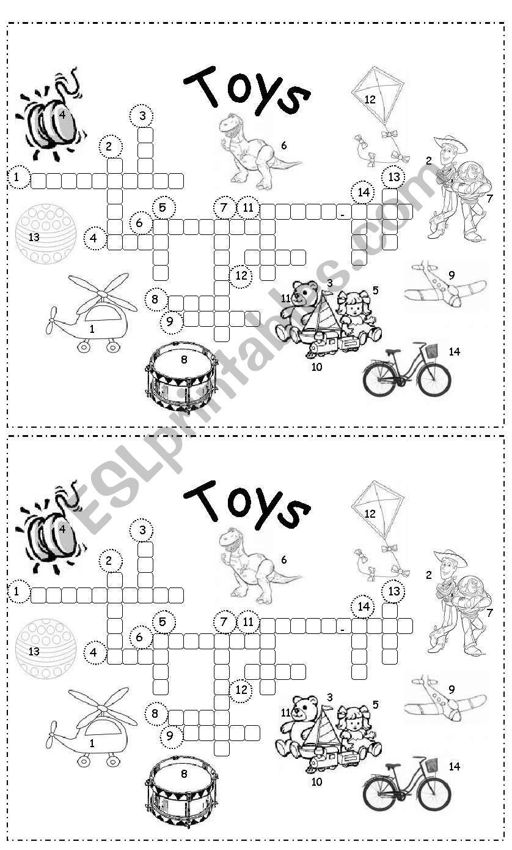 toys crossword - ESL worksheet by gigiyaccu