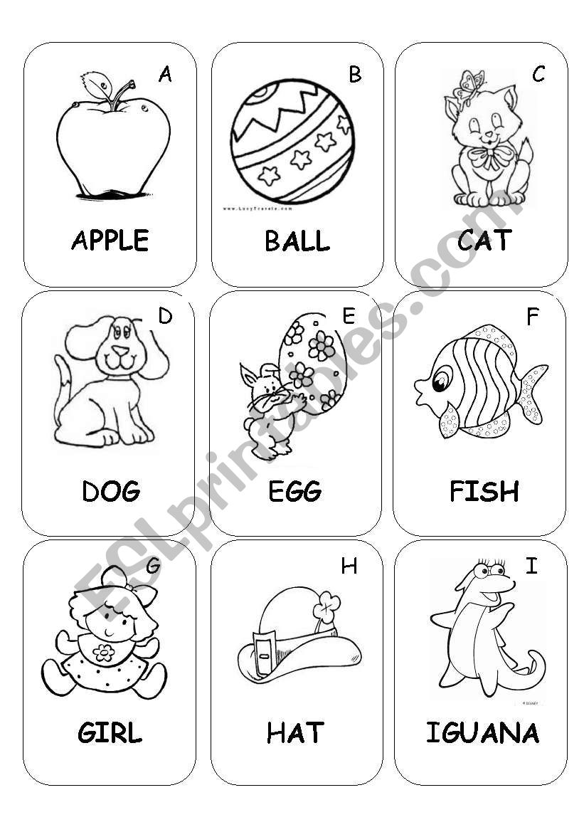 ABC Book part 1 for kids worksheet