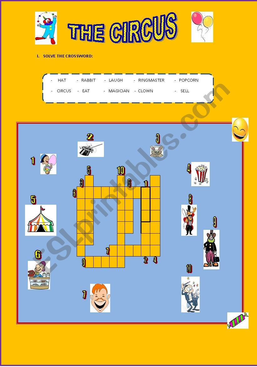 LET´S GO TO THE CIRCUS! worksheet