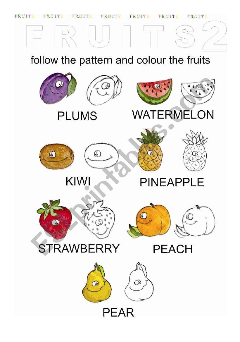 Fruits 2  worksheet