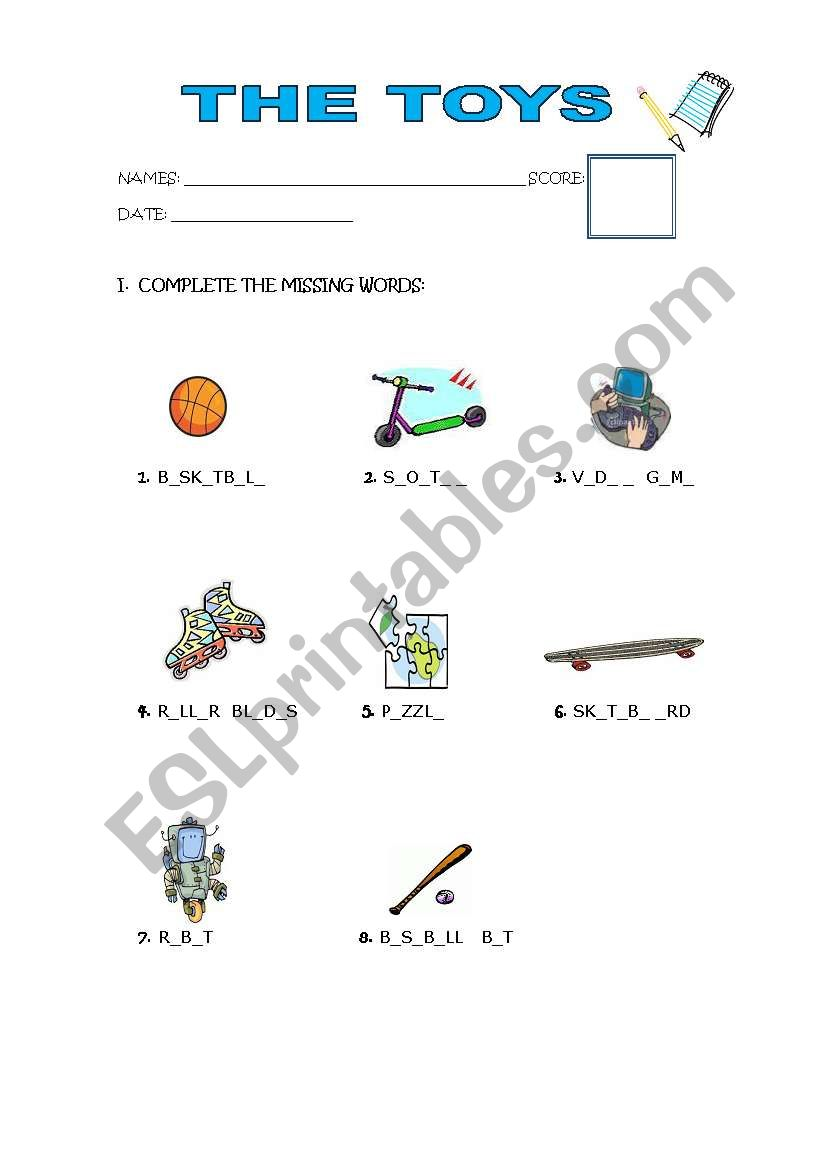 I HAVE A PUZZLE  worksheet
