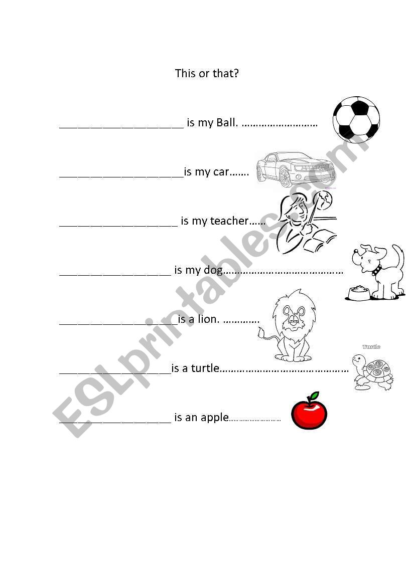 This or That? worksheet