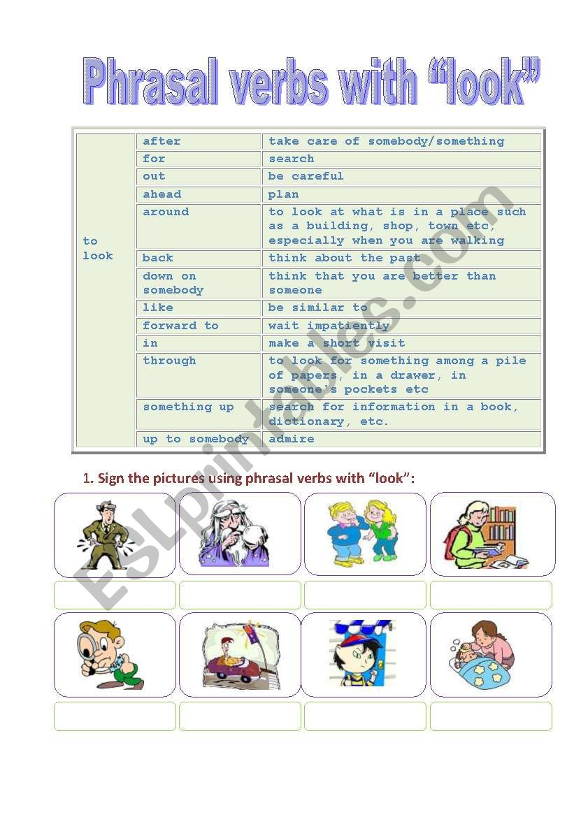 Phrasal verbs with