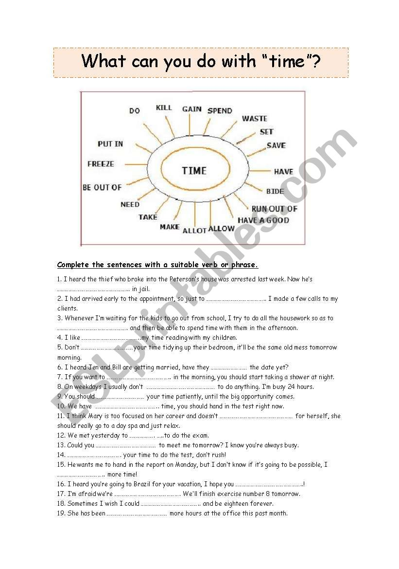 TIME!!! (PART 2) worksheet