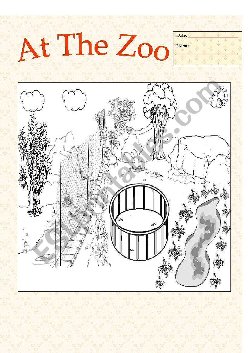 My Zoo worksheet