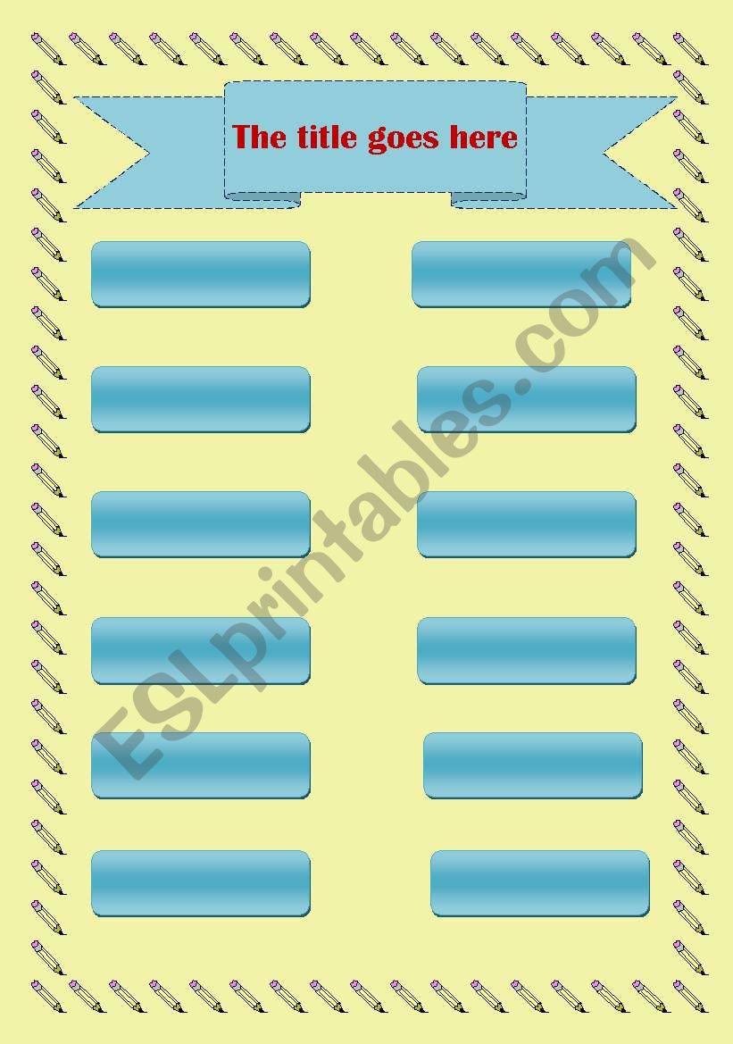 matching template worksheet
