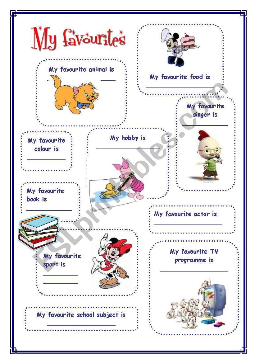My English Portfolio 3 (My favourites)