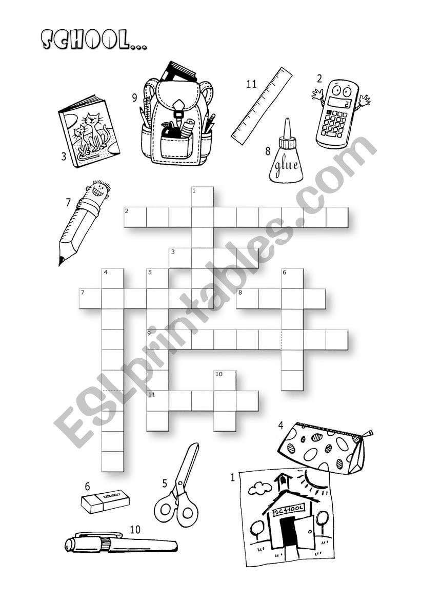 School Crossword worksheet