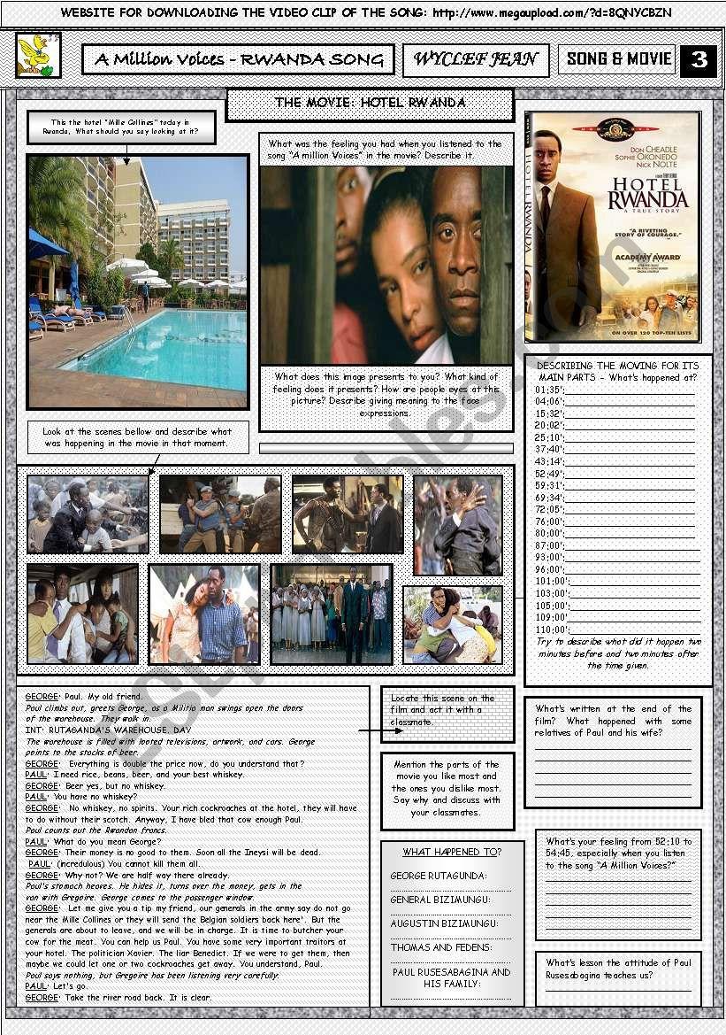 A MILLION VOICES - WYCLEF JEAN - PART 03(HOTEL RWANDA - MOVIE) - FULLY EDITABLE AND CORRECTABLE