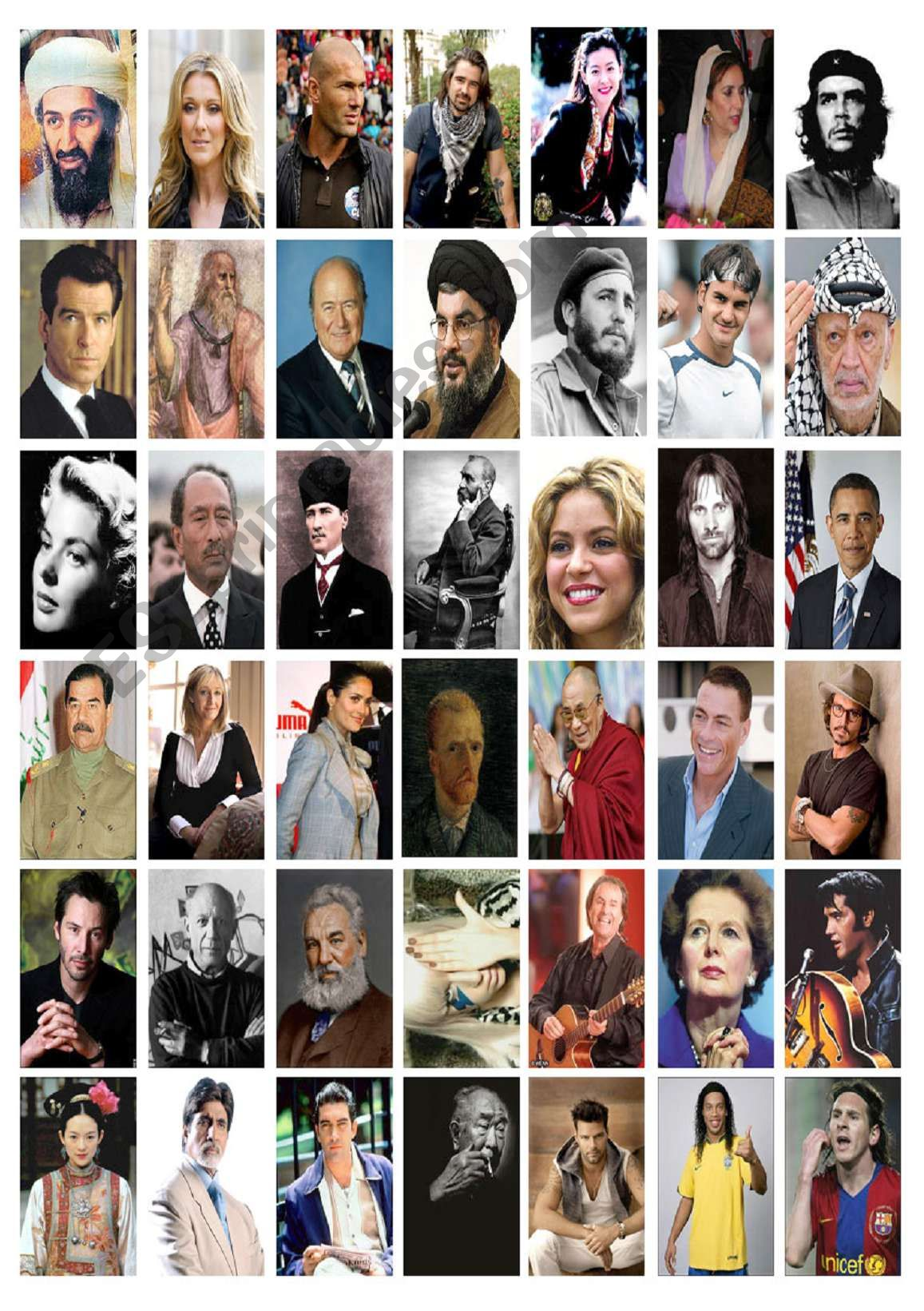 Countries & Nationalities (Famous People) 2