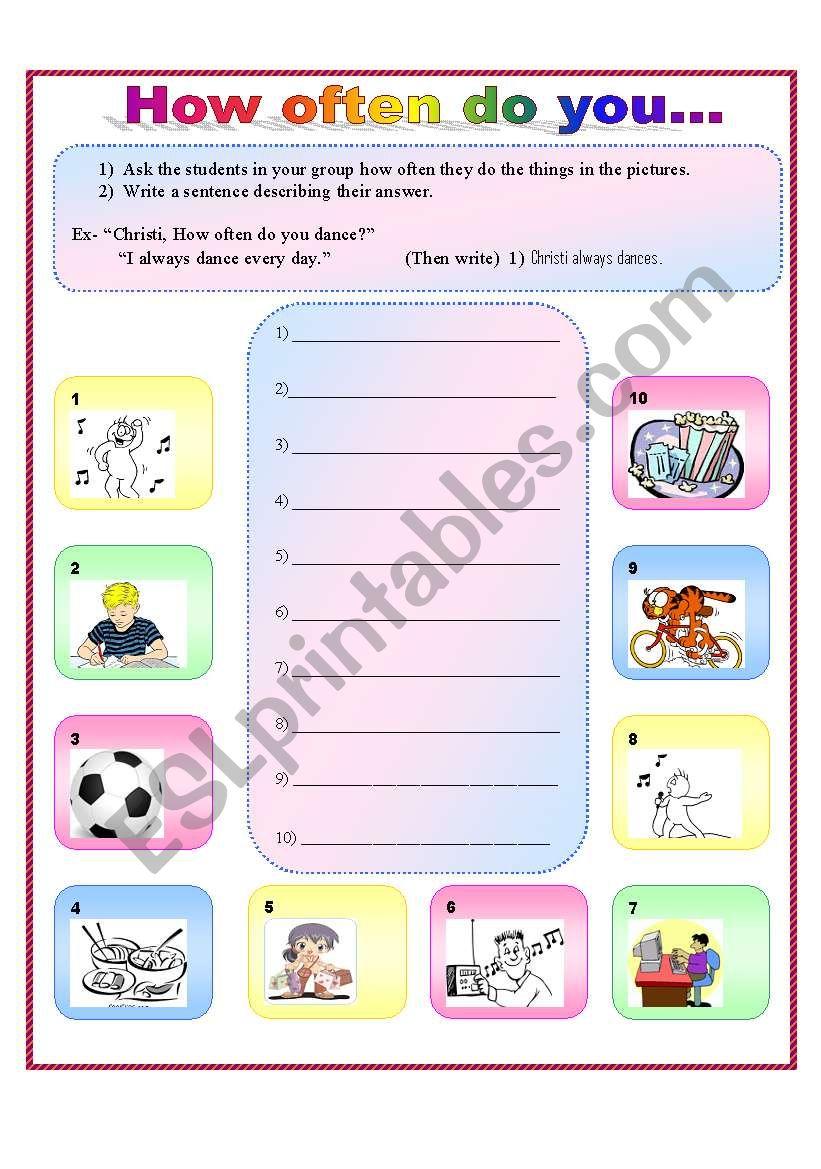 How often do you... worksheet