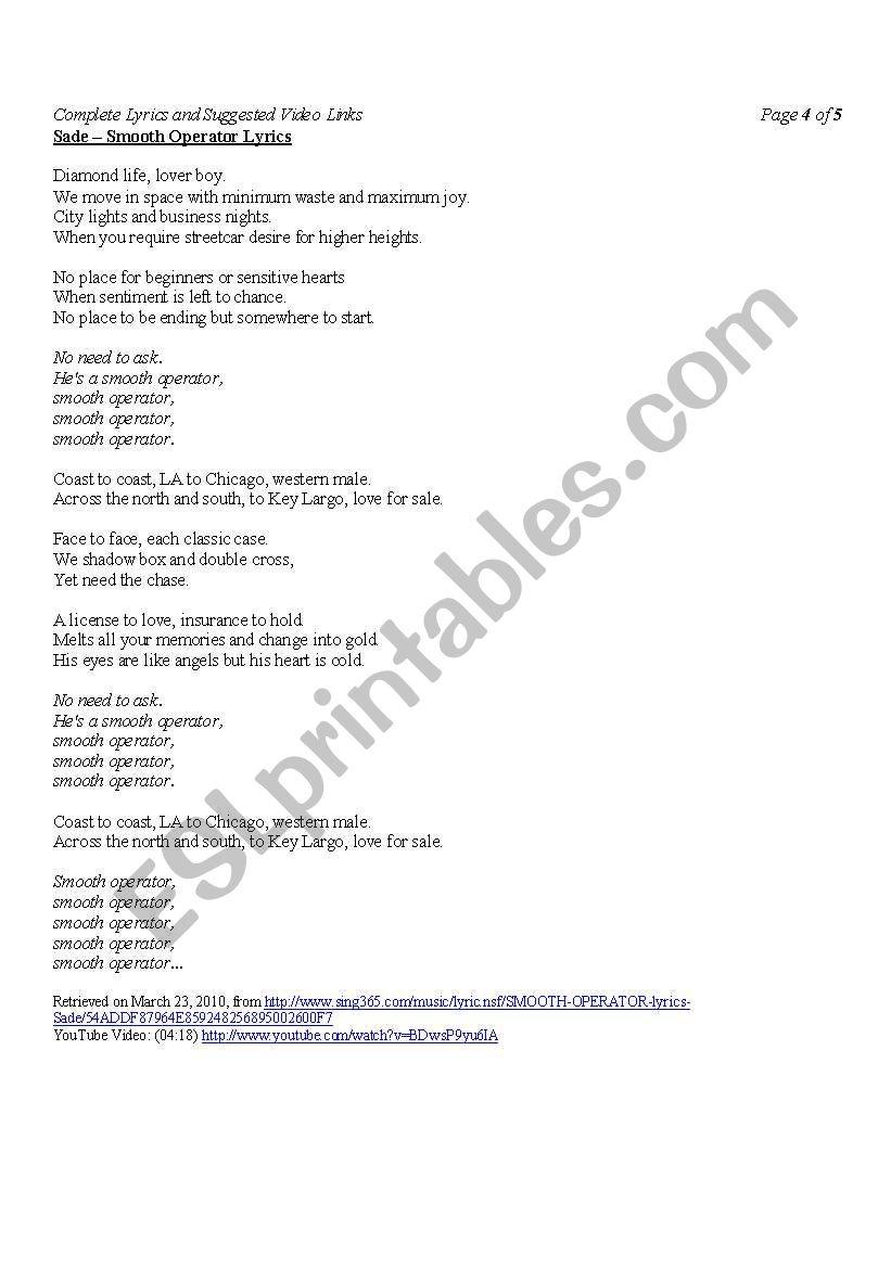 love for sale lyrics