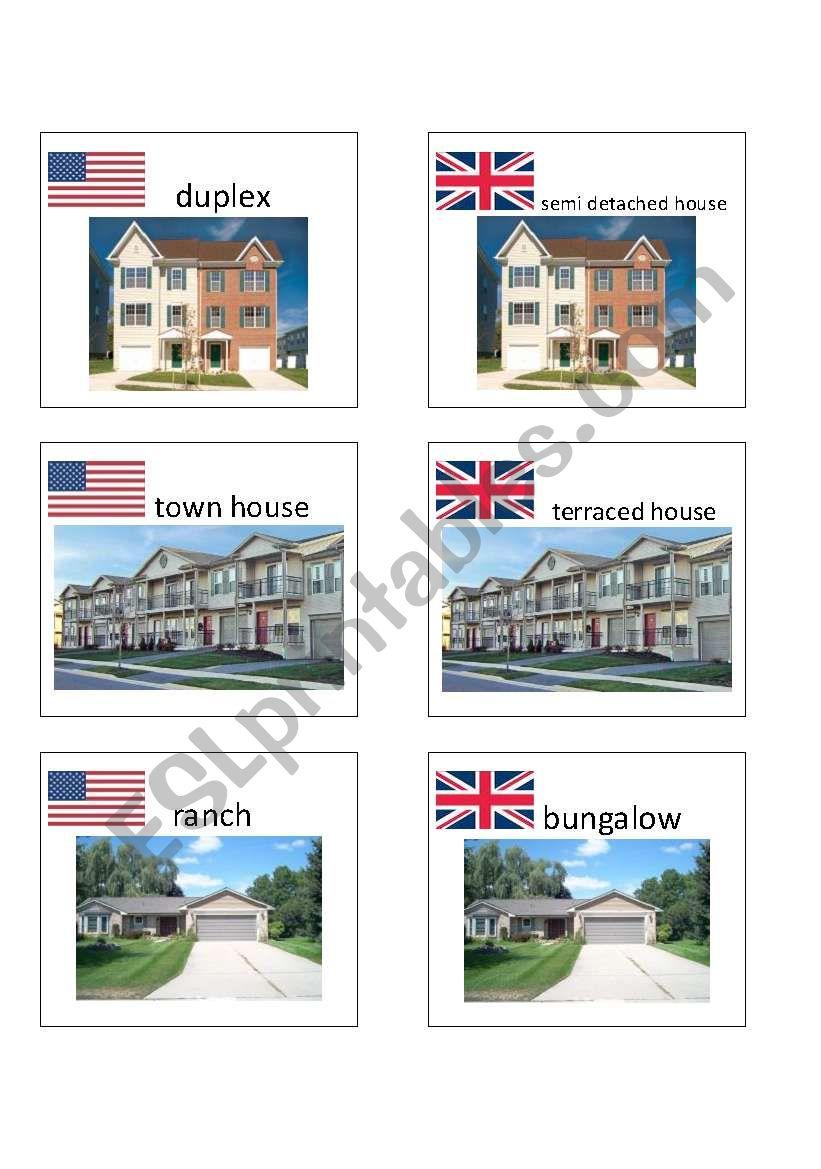 American / British English flashcards 3