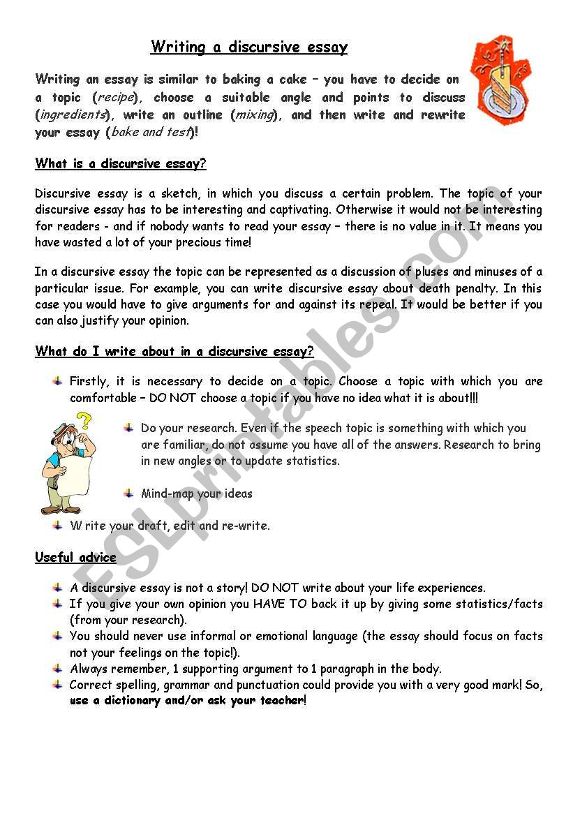 Writing a discurcive essay esl worksheet by granger writing a discurcive essay worksheet ibookread ePUb