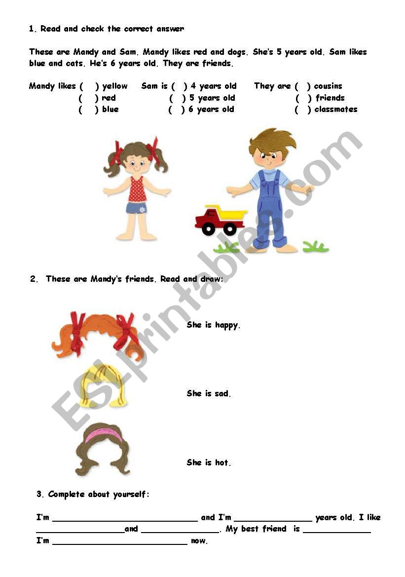Easy exercises  for young learners.