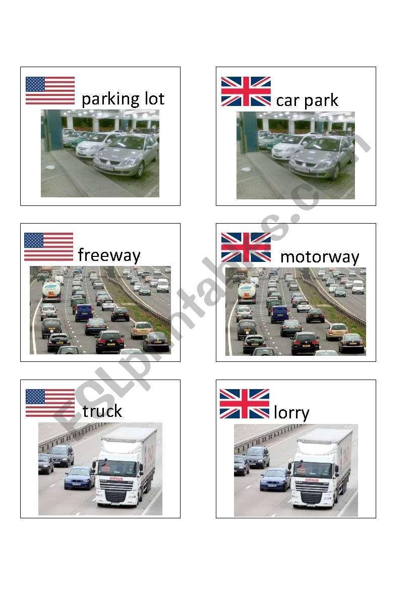 American / British English flashcards 4