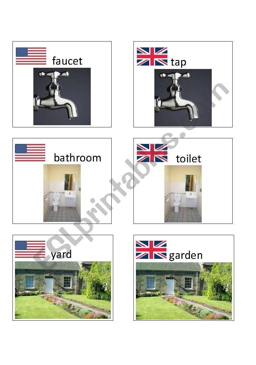American / British English flashcards 5