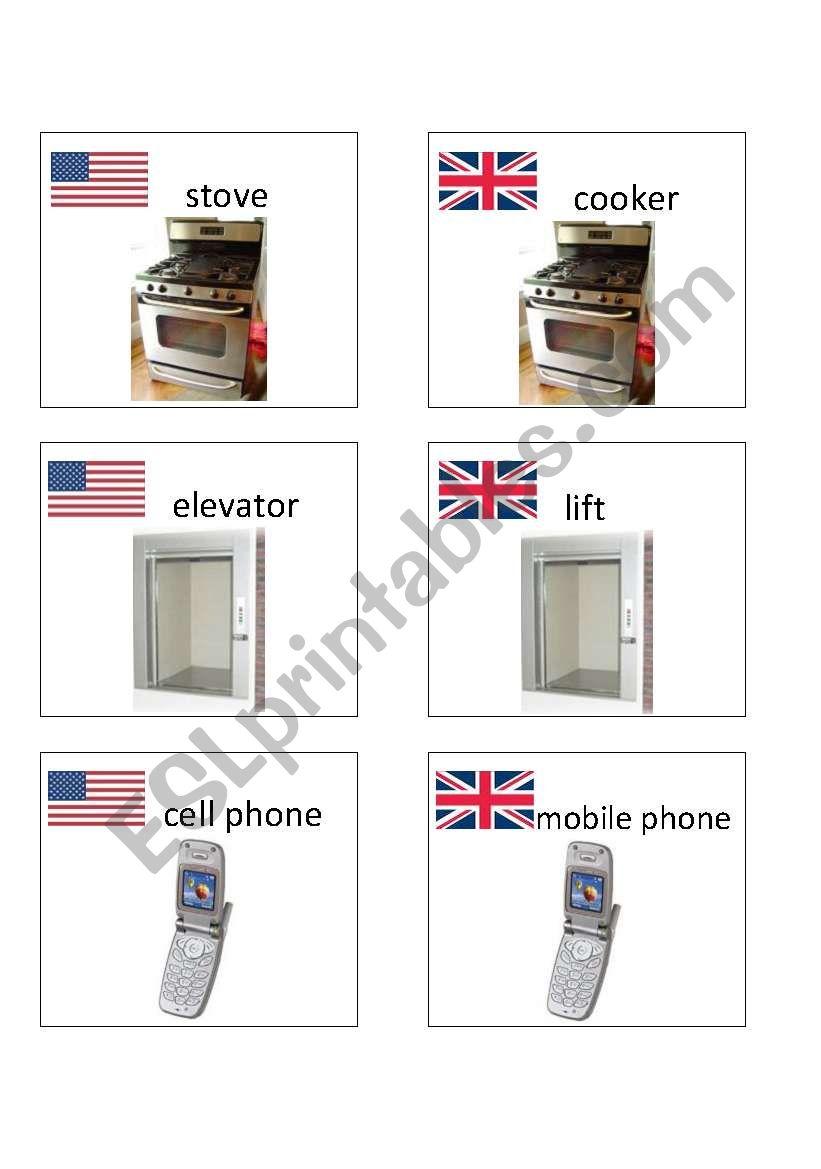 American / British English flashcards 6