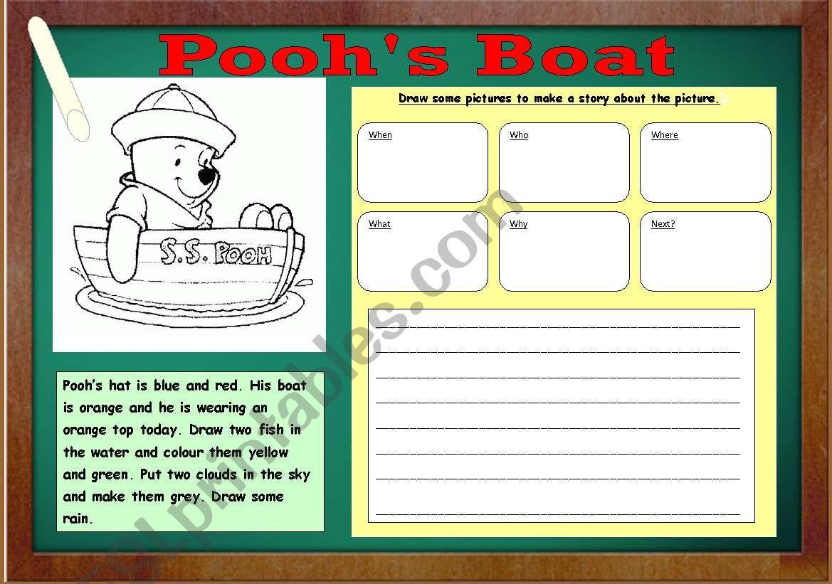 Pooh´s Boat worksheet