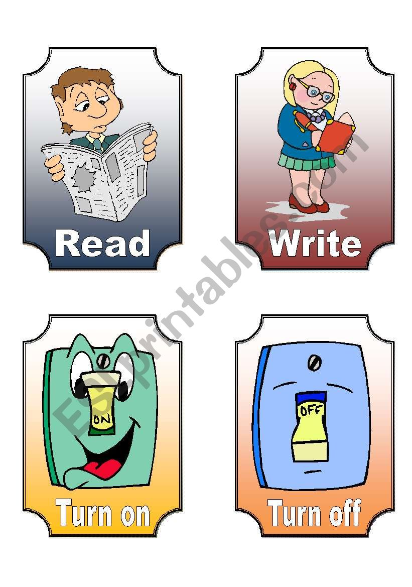 Action Verb Flashcards (7 of 12)