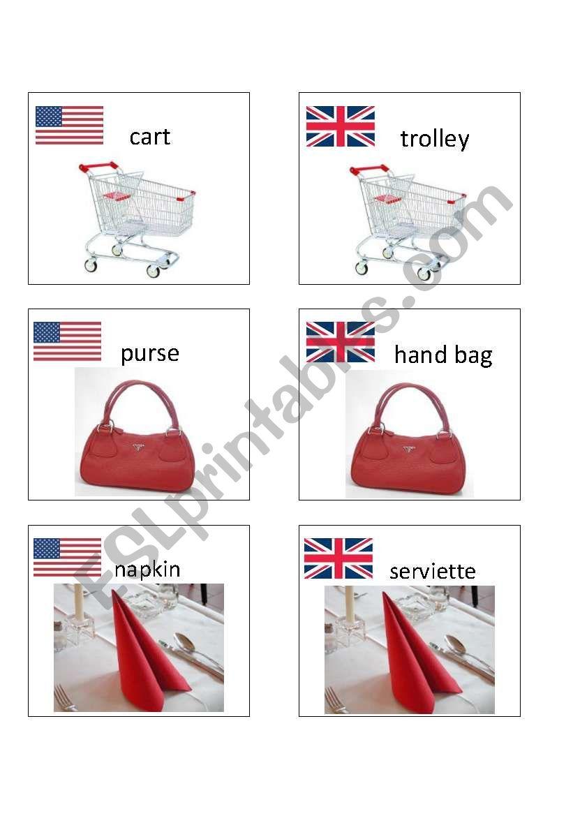 American / British English flashcards 7