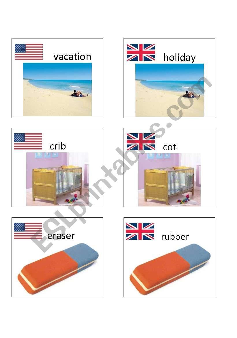 American / British English flashcards 8
