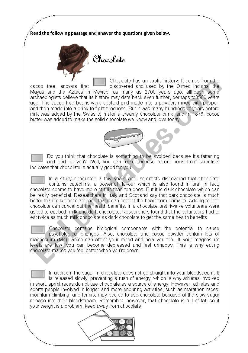 - Reading Comprehension - ESL Worksheet By Rajinth