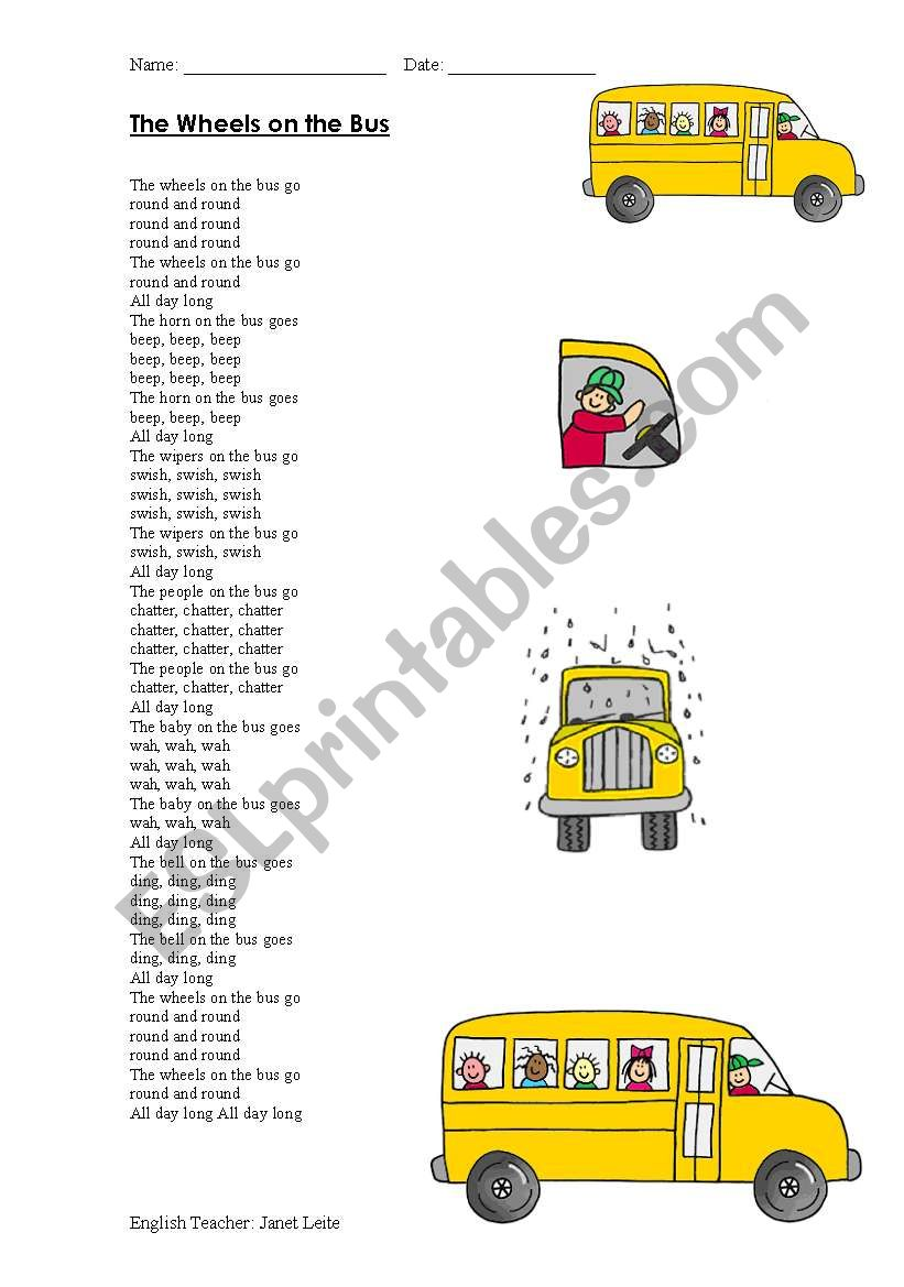 Song worksheet
