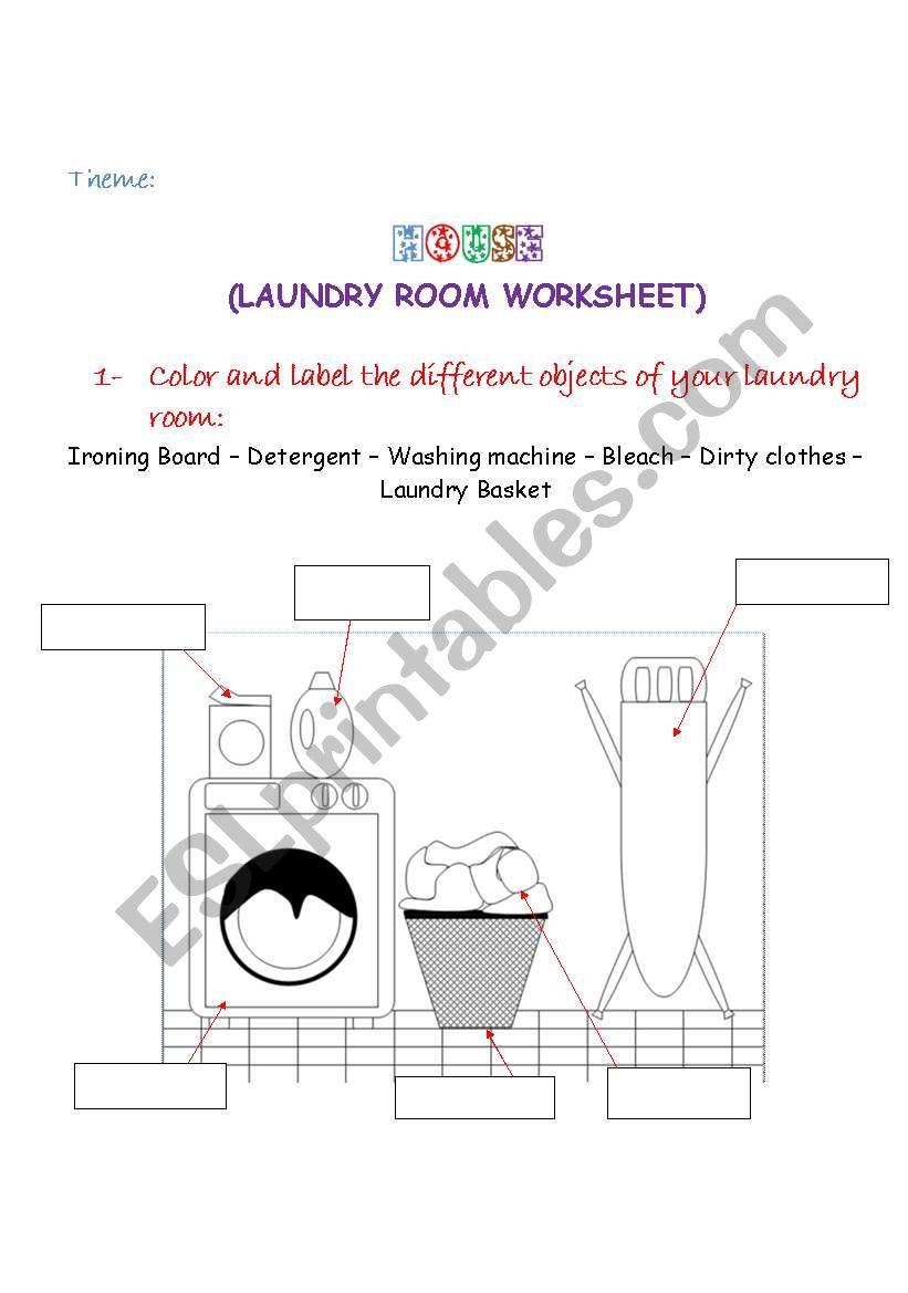 Rooms Worksheet: ESL Worksheet By Leilaftouni