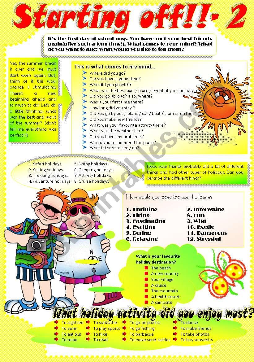 BACK TO SCHOOL-2 worksheet