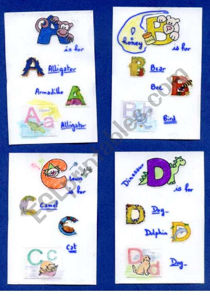 flashcards alphabet worksheet