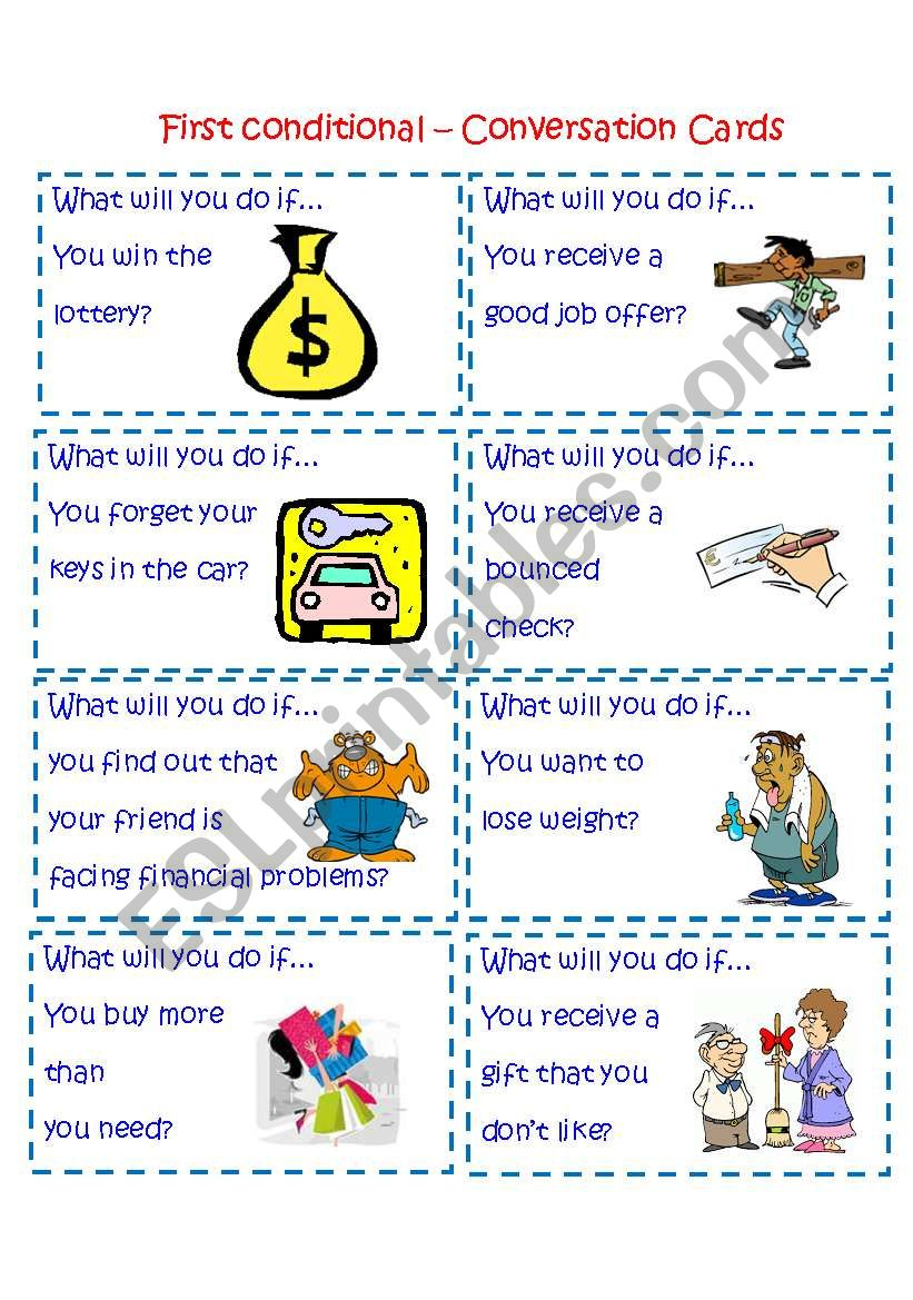 First Conditional- Conversation cards