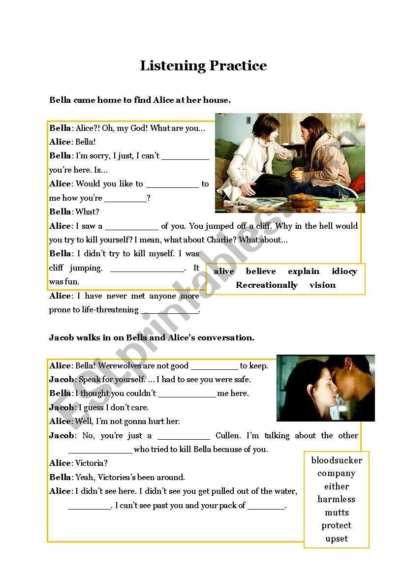 New Moon7 worksheet
