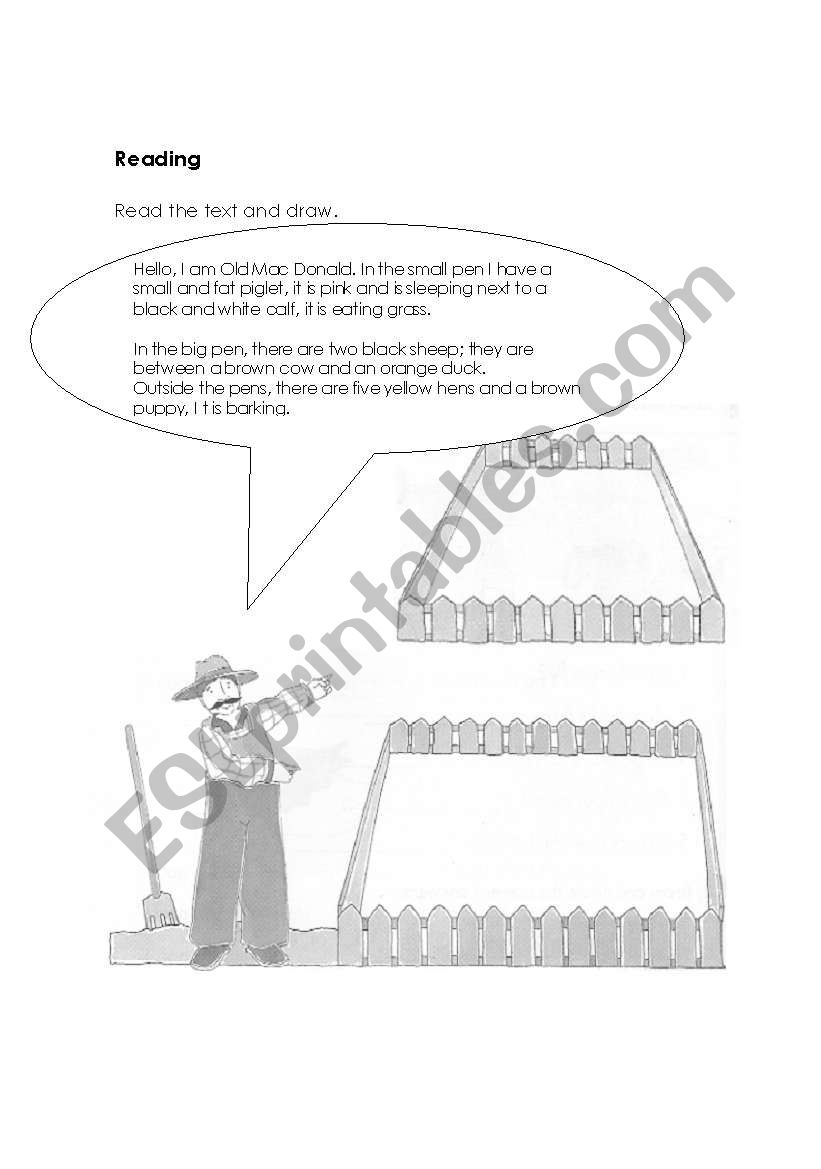 animals and prepositions worksheet