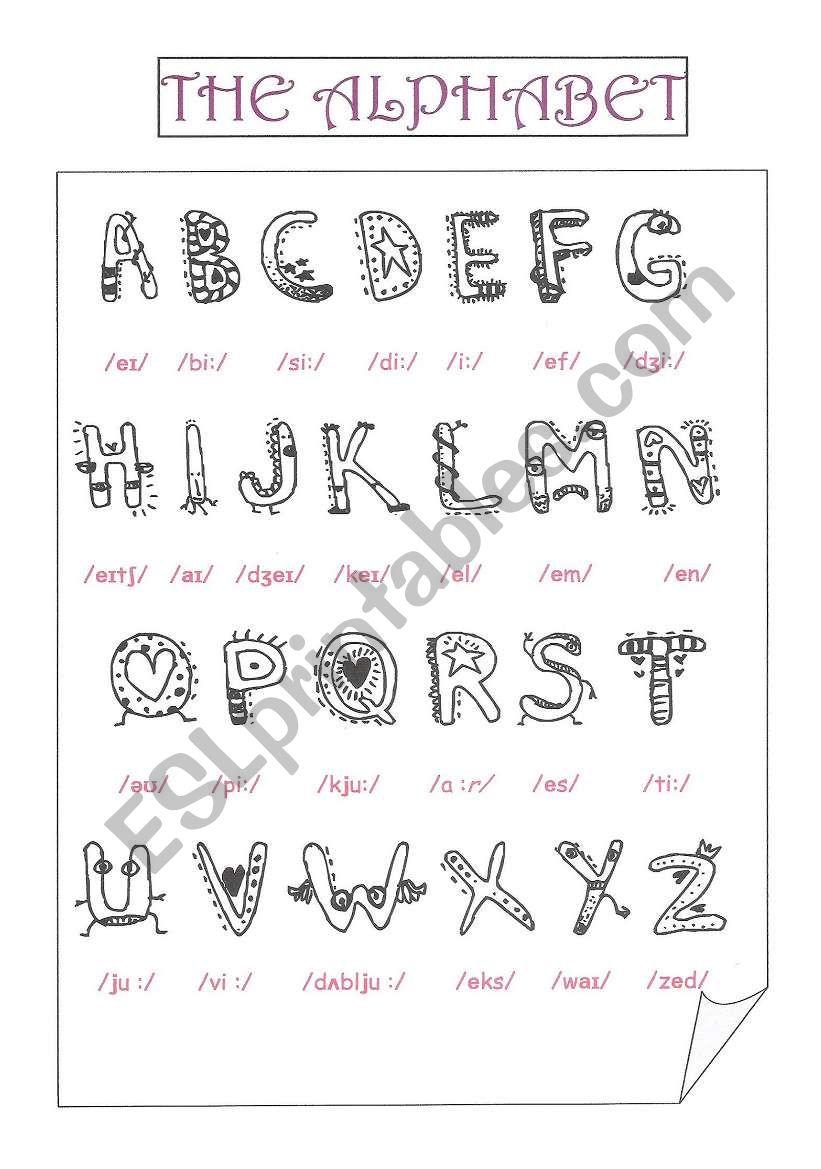 the alphabet worksheet