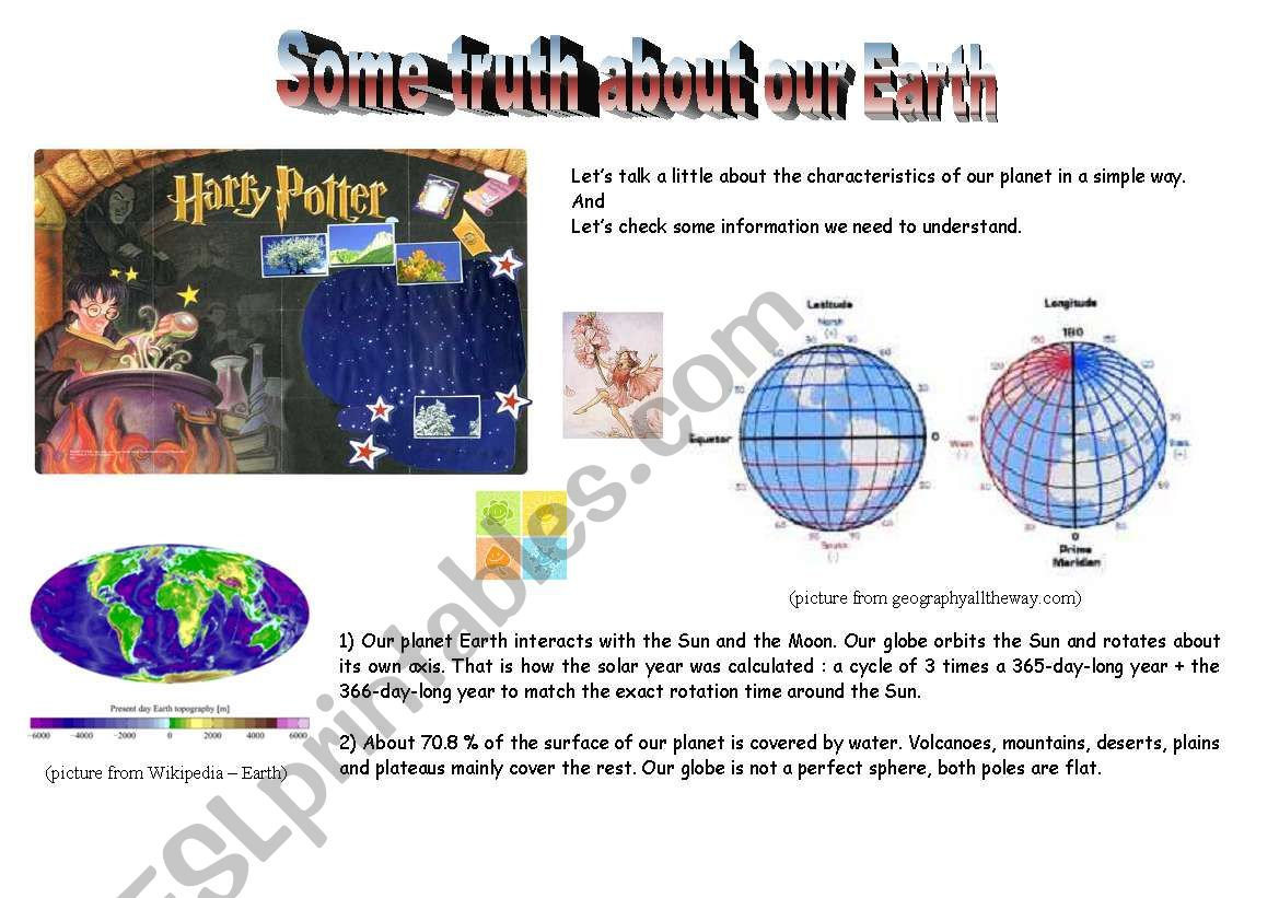 some truth about our earth worksheet