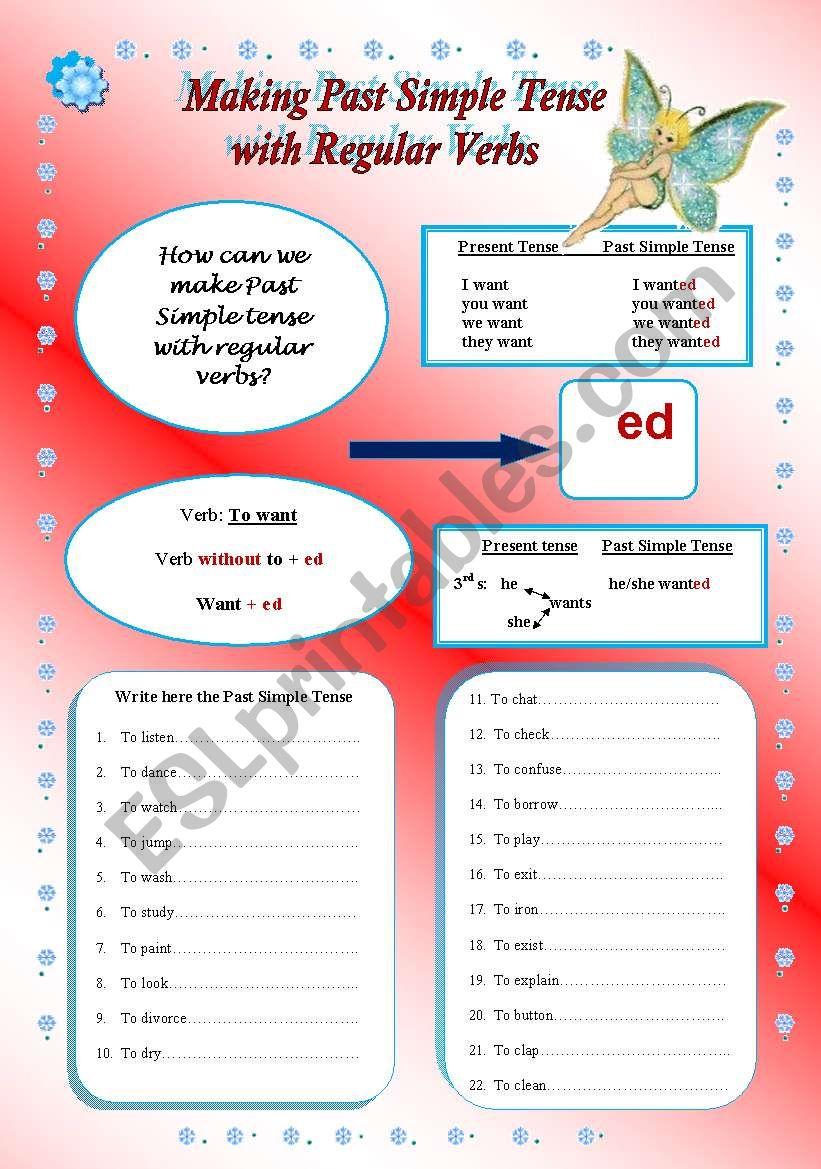 Making Past Simple Tense worksheet
